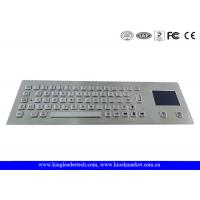 Wholesale Rugged Metal Industrial Panel Mount Keyboard With Touchpad IP65 Waterproof from china suppliers