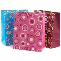Wholesale Eco-friendly Recycable Non Toxic Custom Printed Silver Paper Gift Bags with Handles from china suppliers