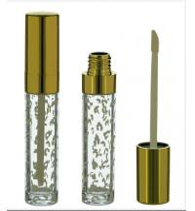 Wholesale Gold Clear Lip Gloss Tube, Gold lip gloss tube, Gold lip gloss container from china suppliers