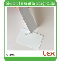 China best white cards 13.56Mhz MF S50 Proximity IC Smart Card Tag 0.8mm Thin For Access Control System ISO14443A on sale