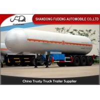 Wholesale 56000L LPG Tank Semi Trailer, 3 Axles 25 Tons Butane Fuel Transfer Trailer from china suppliers