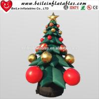 Wholesale Hot Sale inflatable Christmas Decoration tree with Christmas Ball Jingling Bell from china suppliers