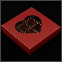 Wholesale Base And Lid Cardboard Boxes , Valentine'S Day Chocolate Box With Plastic Window from china suppliers