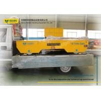 Wholesale Wide Platform Industrial Transfer Trolley With Steel Box Girder Structure from china suppliers