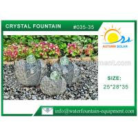 China Artistic Cast Stone Garden Fountains Polished Surface With Three Crystal Glass Balls on sale