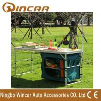 China Multi - Function Aluminum Folding Table With Cloth Cabinet Light Bar on sale
