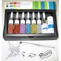 Wholesale Body Art Glitter Temporary Tattoo Kit with 12 Colors Tattoo Ink from china suppliers