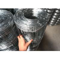 China Galvanized Metal Wire Woven Field Fence Rolls 6 Mesh Hole Space Agricultural Fencing on sale