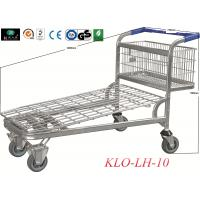 Wholesale Heavy Duty zinc and powder Warehouse Trolleys With 4 Swivel 6.4 Inch Wheels with front foldable gate from china suppliers