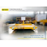 Quality Heavy Flat Rail Industrial Transfer Trolley / Material Handling Equipment for sale