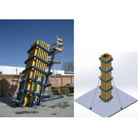 China Concrete System Column Formwork With Standard Timber Beam H20 And Steel Waler on sale