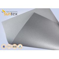 Wholesale Silver Grey Fiberglass Fire Resistant Welding Blanket Silicon Rubber Colored Fiberglass Cloth from china suppliers