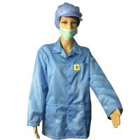Wholesale Static Dissipative ESD Jackets 2.5mm Grid White And Blue For EPA Clean Room from china suppliers