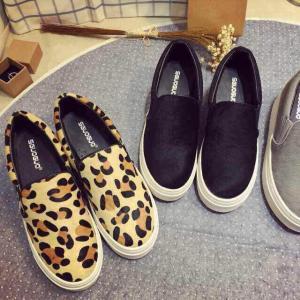 2015 Lastest Fashion Women's Sport shoes Sneakers Casual Leopard Print Genuine Leather