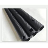 Wholesale CNC cutting drilling carbon fiber tube carbon fiber pole 25*21.4*1410mm from china suppliers
