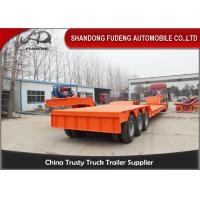 Wholesale Front Loading Lowboy Detachable Gooseneck Trailer 80 -100 Tons Carry Heavy Equipment from china suppliers