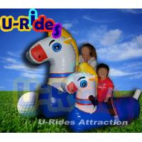 Wholesale Blue Inflatable Pool Floats Tarpaulin Inflatable Horse Pool Toy 1.8M × 0.6M ×1.2M from china suppliers