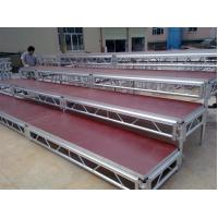 Buy cheap Lightweight Movable Aluminum Portable Staging Systems Safety With Wheels from Wholesalers