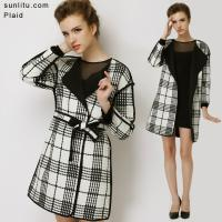 Wholesale Plaid Woolen Overcoat from china suppliers