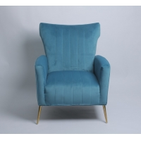 Wholesale Modern design velvet fabric living room chair sofa chair with stainless steel legs for home furniture from china suppliers