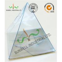 Wholesale Handmade Custom Gift / Craft Clear Packaging Boxes Triangle Glossy Lamination from china suppliers