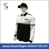 100 polyester security guard t shirts black and white long sleeve