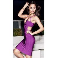 Wholesale Purple Cut Out V Neck Bandage Dress Spaghetti For Evening Party from china suppliers
