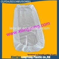 Wholesale Durable Disposable Fitted Bed Sheets , Elastic Corner Disposable Mattress Cover from china suppliers