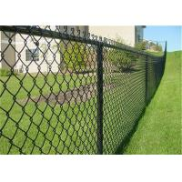 China Galvanized Pvc Coated Chain Link Fence Fabric 6 Ft SGS Certification on sale