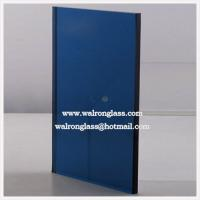 Blue Color Tempred/Toughened Glass for Decoration with Square Shape