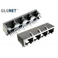 Buy cheap 4 Ports Pure RJ45 Connector without Magnetics Tab Down 1x4 Ganged RJ45 Jack from wholesalers