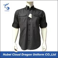 Custom Short Sleeves Military Tactical Shirts With Two Side Chest Pockets