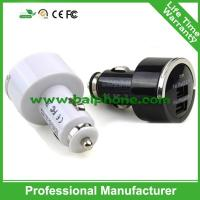 Car charger for iPad for iPhone black and white pull tab dual usb car charger