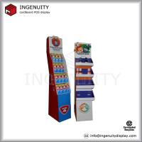 Wholesale point of sale corrugated cardboard beverage display shelf from china suppliers
