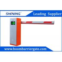 Orange Color Automatic Parking Lot Boom Barrier Gate System With LED Panel