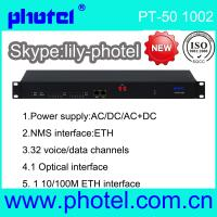 Buy cheap 4 E1 10/100M 15 FXS/FXO Voice PCM Optical Multiplexer from wholesalers