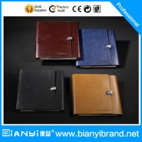 Wholesale Promotional Gift 6 Rings Leather Loose Leaf Notebook from china suppliers