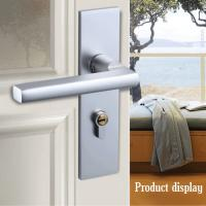 Wholesale Indoor Space Aluminum Metal Door Lock Bedroom Connected Door Handle Lock from china suppliers