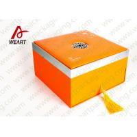 Wholesale Orange Printing Tote Customized Paper Box Cardboard Gift Packaging Use from china suppliers