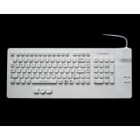 Wholesale USB white IP68 medical silicone keyboard with built-in mouse for medical computer cart from china suppliers