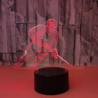 China 7 Color Creative Gift Acrylic Manufacturer Wholesale Hockey Night Light Novelty Led 3d Kids Lamp on sale