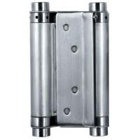 China Satin Stainless Steel Square Door Hinges Double Action Spring Door Hinge on sale