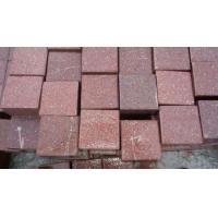 China Red Porphyry Granite Paving Stone on sale