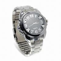 Wholesale 8GB Metal Watch DVR Camera with 640 x 480 Pixels Resolution, Video/Audio Record and Can Take Picture from china suppliers