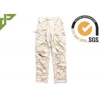 Quality Relaxed Fit Tactical Combat Pants / Desert Camo Trousers With Function Pocket For Duty for sale