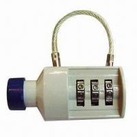Wholesale 3 digits bottle shape combination padlock, made of zinc alloy from china suppliers