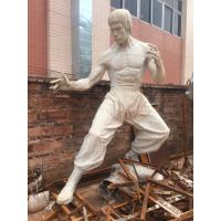 Wholesale Props and oddities  fiberglass bruce lee statue/sculpture as decoration in hotel mall display model from china suppliers