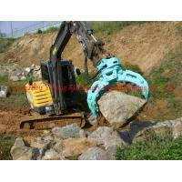 Wholesale Hydraulic Rotary Excavator Stone Grapple With Double Cylinders Of 10t - 45T from china suppliers