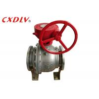 Wholesale DN150 6 Inch 2PC Trunnion Ball Valve CF8M Stainless Steel Split Body Price from china suppliers