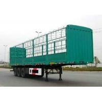 China Multi Axles Fence flatbed gooseneck trailer for Livestock Cow Cattle Transportation on sale